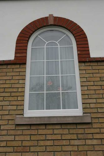 White Arched uPVC Window Bournemouth