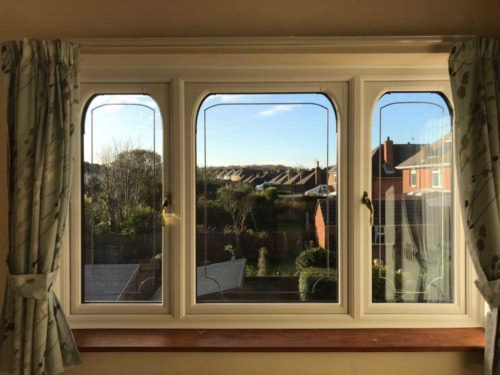 Casement Window with Curved Edges